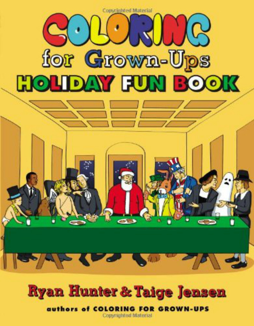 coloring for grown ups holiday fun book by ryan hunter