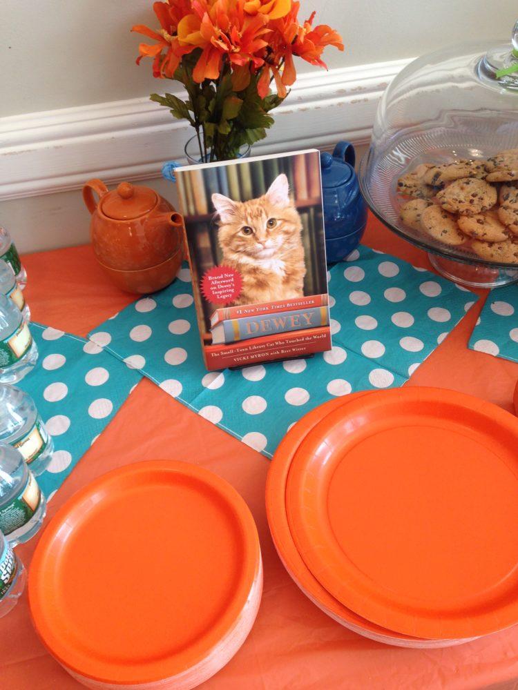 Bookish Tea Party Fun: Orange Tabby