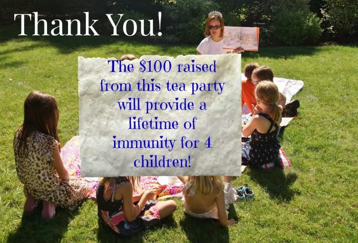 Tea Party Thanks