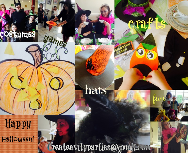 Halloweenparty Collage