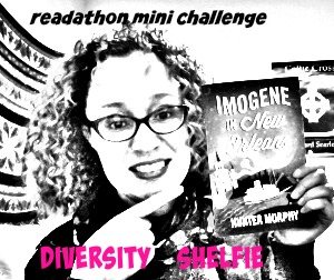 Dewey's 24 Hour Readathon Hour 3 Mini Challenge: DIVERSITY SHELFIE