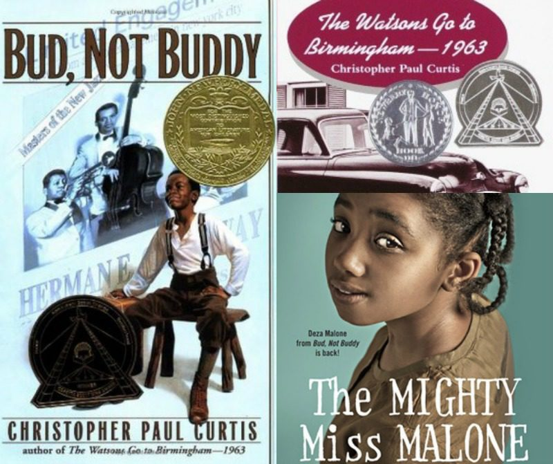 Bud, Not Buddy by Christorpher Paul Curtis and The Mighty Miss Malone by Christopher Paul Curtis